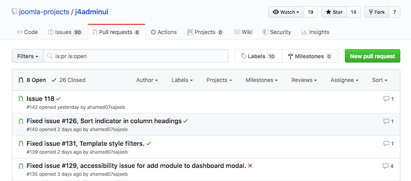 Pull Request List